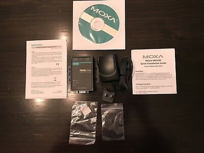 MOXA MGate MB3180 - 1 Port Serial-to-Ethernet Modbus Gateway - New in Box!
