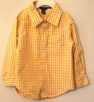 Gap Baby Long Sleeve Yellow and White Shirt Size 4T