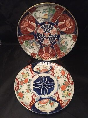 Vintage Antique And Later Imari Plates Chinese Japanese Oriental