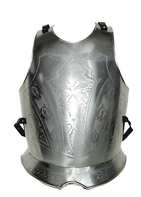 Antique Hand Made Medieval ARMOR Embossed BREASTPLATE Iron Roman Breastplate SCA