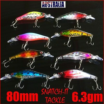 8 Redfin & Bream Fishing Lures, Flathead, Bass, Perch, Trout,Cod Fishing Lure