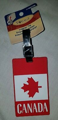 Canada Flag Maple Leaf Luggage Tag with ID