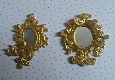 Dolls House Two Ornate Quality Mirrors