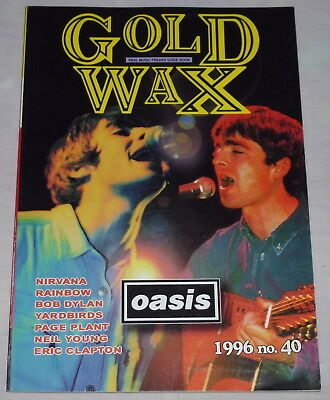 GOLD WAX magazine Japan book 1996 ! OASIS