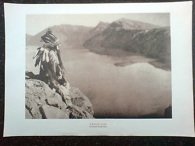 edward sheriff curtis print,crater lake,overall size 17x12 inches,v.g.c.