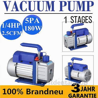 1/4HP 2.5 CFM 5Pa Single Stage Vacuum Pump Air Conditioning Refrigeration Vacuum