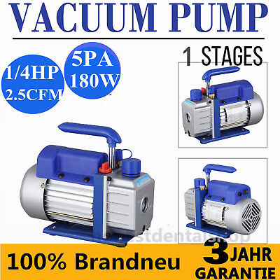 1/4HP 2.5CFM 5Pa Single Stage Vacuum Pump AC Air Conditioning Refrigeration Tool
