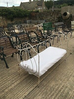 Gorgeous little antique French iron day bed