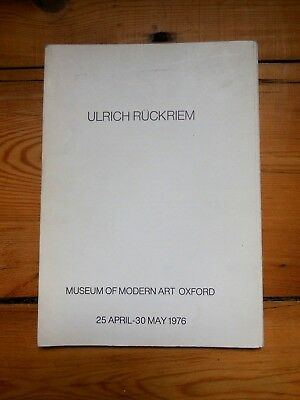ULRICH RÜCKRIEM. the ground plans of a gallery...livre d'artiste. Orford, 1976