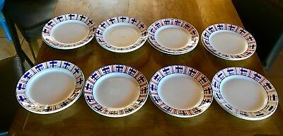 16 Assiettes  Plates St Amand. Style Bearn