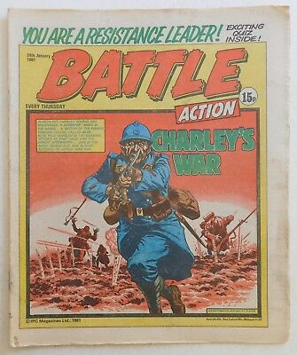 BATTLE - ACTION Comic - 24th January 1981
