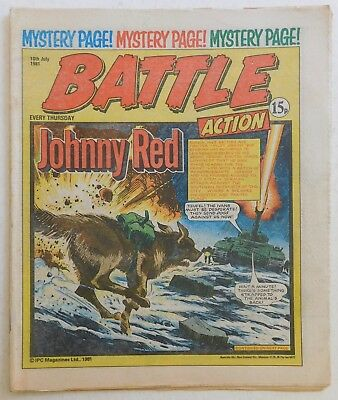 BATTLE - ACTION Comic - 18th July 1981