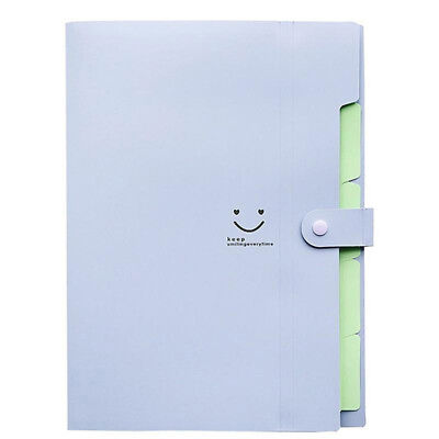 5-pocket Expanding File Folder Document Office A4 Organizer Universal Durable