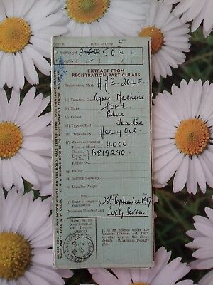Ford 4000 Tractor Logbook