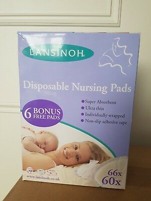 Lansinoh Disposable ultra thin stay dry Nursing Pads - 66 Pieces