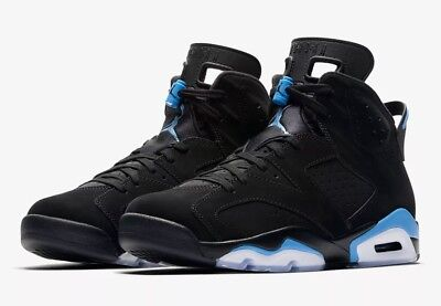 wholesale dealer 95442 2ca01 ... new arrivals mens nike air jordan 6 retro black unc basketball trainers  uk 11 384664 006