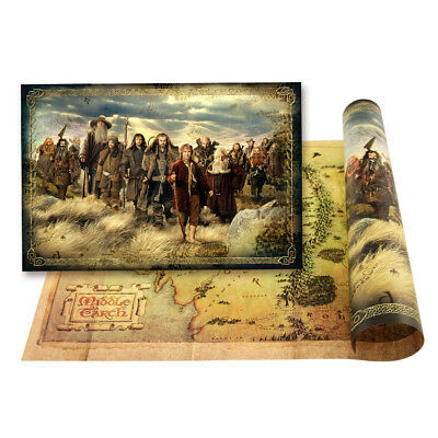 NEW The-Lord-of-the-Rings The Hobbit Middle-earth Map portrait
