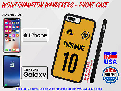 Wolverhampton Wanderers FC Jersey Phone Case Customized Football Soccer Wolves