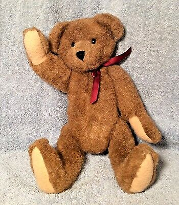 """The BOYD Collection Archive Series 1998 Brown Fully Jointed Plush Bear 12"""" EUC"""