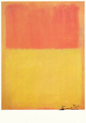 Postkarte: Mark Rothko - Orange and Tan / 1954