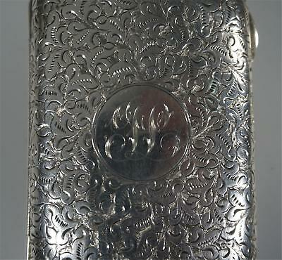 Antique Silver Cigarette Case With Monogram And Scroll Designs    6