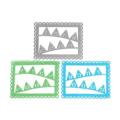 Paper Album Decor Cutting Dies Lucky Bunting Stencils Scrapbooking Embossin R9S7
