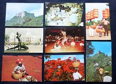 HAITI  WEST INDIES  1950's -60's  NICE STAMPS  8 Post Cards #2316