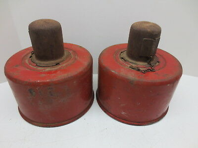 Vintage PAIR of ANTHES FORCE OILER CO. SMUDGE POTS TYPE C / ROADSIDE EMERGENCY