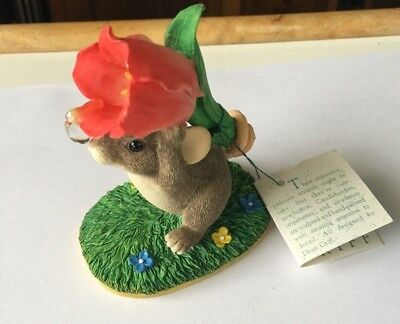 Charming Tails I PICKED THIS FOR YOU SIGNED 97 MOUSE FLOWER SPRING