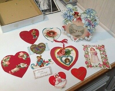 Lot of Vintage and Antique Greeting Valentine Cards