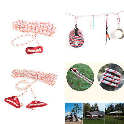 Nylon Guyline Tent Rope Runners Camping Guy Line Cord Paracord Safety
