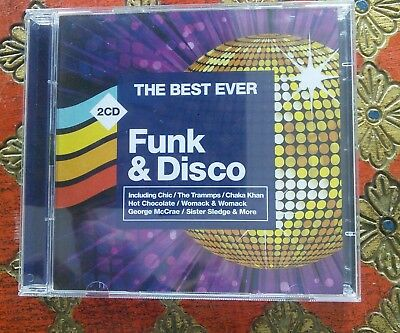 The Best Ever Funk &Disco 2cd Set Various Artists Chic Chaka Otis 36 Fab tracks