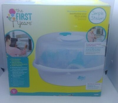 Microwave Steam Sterilizer Baby Bottles, Bottle Hygienic Cleaning, BPA Germ Free