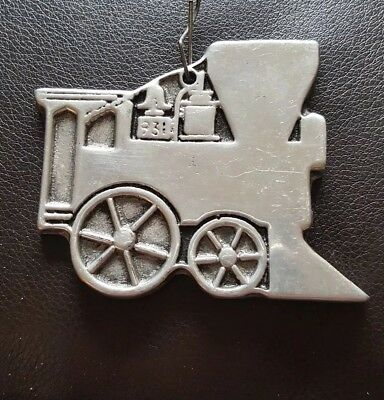 Vintage Wilton Pewter Train Christmas Tree Ornament From Columbia, Pa.
