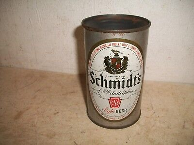 Rare Error Can Schmidt's Light Beer Quart Cone Top Can Cap Sealed Silver Noggin