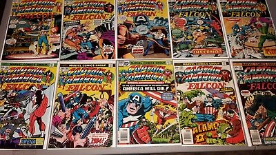 Captain America Lot - 10 Books - Bronze Age - Nice