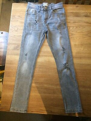 Lovely Boy's Next Grey Distressed Skinny Jeans - Age 10 Years