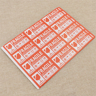 50x Stickers Etiketten Vorsicht Zerbrechlich Beste Chic FRAGILE Handle With Care