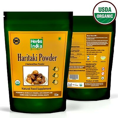 Organic Haritaki Fruit Powder 1 lb(16 Oz).USDA Organic,Premium Powder,USA Seller