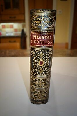 Pilgrims Progress Other Works John Bunyan 1861 - Rare Copy with Publishing Error