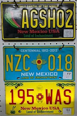 NEW MEXICO  license plate Lot Turquoise, Balloon and Yellow land of Enchantment