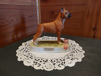 ©1975 Lionstone Whisky 1/10 Pint Porcelain German Boxer Empty Decanter