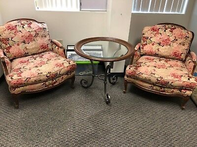 Ethan Allen Chairs and table
