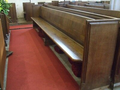 OLD  OAK AND PINE CHURCH PEW (4230mm long)