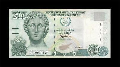 1.4.2005 Central Bank Of Cyprus 10 Pounds (( Ef ))