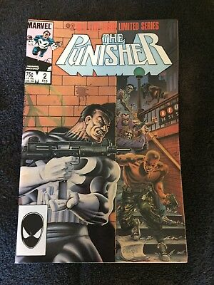 Marvel, The Punisher #2 Limited Series 1985 N/m! White Pages