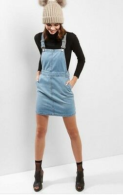 Brand New NEW LOOK DENIM PINAFORE DRESS WITH POCKETS SIZE UK size 10
