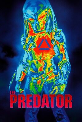 The Predator Movie Poster Picture Art 2018 Print Art A4 A3 A2 -392