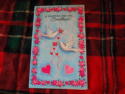 Lot Of 4 Vintage French Fold Valentine's Cards