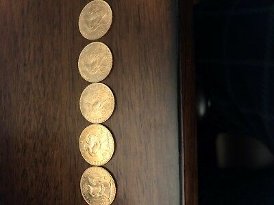 Lot Of 5 French Franc 20 Rooster Gold Coins